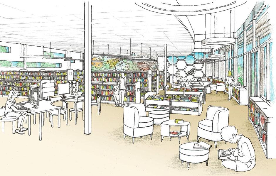 El Gabilan Library Drawing